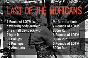 Last of The Mohicans Frogman Project Signature Workout